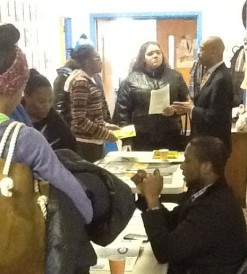 Carl-Henry Labbees of Per Scholas and Michael Sharpe of Year Up engage GO students with vocational training ideas 11-19-14